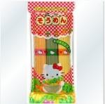 日本Hello Kitty三色蔬菜面宝宝面条300g 7个月!