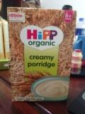 香港代购 英国进口HiPP 喜宝2段天然有机牛奶燕麦米粉米糊2款可选