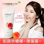 韩国 菲诗小铺the face shop水蜜桃洗面奶女herb day 365