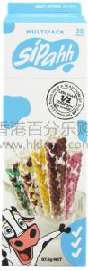 香港代购 sipahh澳澳洲咕噜噜神奇变味牛奶儿童吸管5种口味25只装