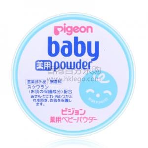日本贝亲婴儿爽身痱子粉 150g 浅蓝铁盒 防止皮疹及尿疹