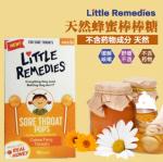 香港代购 美国little remedies colds蜂蜜止咳棒棒糖宝宝婴儿糖咳嗽天然