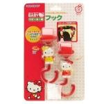香港代购 日本 hello kitty宝宝推车挂钩 摇篮床挂钩 2个入