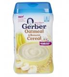 美国嘉宝Gerber2段/二段香蕉燕麦味米粉米糊227g