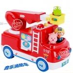 韩国正版 pororo 工程消防车带声光音乐玩具早教益智车生日礼物